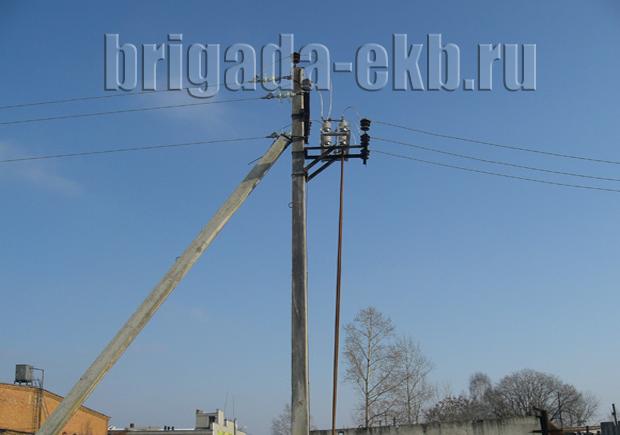 Монтаж линии электропередач
